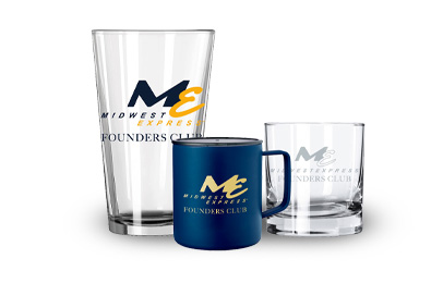 Midwest Express Founders Club Drinkware