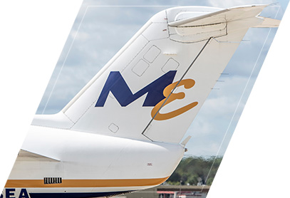 Midwest Express aircraft tail